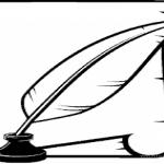 usługi księgowe pióro w kałamarzu